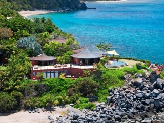 Luxury 5 bedroom Virgin Gorda, BVI villa. Private Beach, Chef and Spa/Yoga