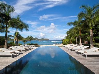Luxury 5 bedroom St. Barts villa. Beach access and snorkeling in front of villa!