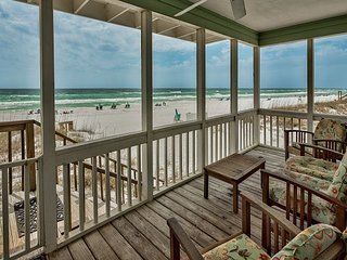 QUIET SURF II #8-2BR/2.5BA-GULF FRONT,CLOSE DINING,7% OFF AUG & SEPT DATES!!!