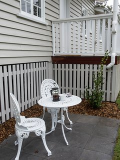 At the entrance there is a small coutyard garden area which doubles as designated smoking area.