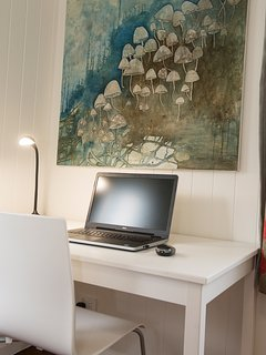 There is a study desk in two of the bedrooms should you have to check on work during your stay.