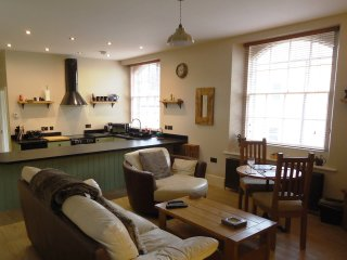 Luxury one-bedroom holiday apartment with log-burning stove, Alnwick