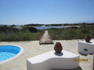View from villa to lake/sea