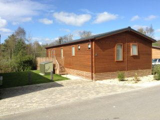 Luxury 3 bed lodge in a woodland setting, sleeps 6