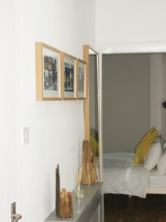 Hall with full length mirror.