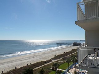 Atlantica Resort 2 Bedroom Direct Oceanfront Condo, WiFi, Lazy River, Hot Tub