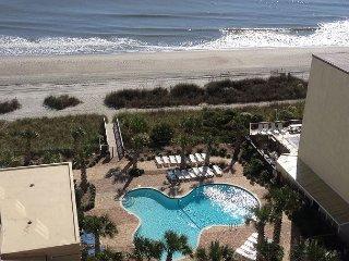 Myrtle Beach 2 Bedroom Ocean View Condo, Arcade, Sauna, WIFI, indoor pool!