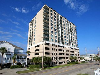 3 bedroom OceanView Penthouse Cherry Grove,  hot tub, WIFI, Pool, Sleeps 10!