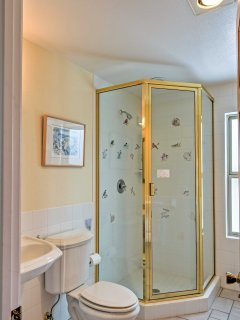There are 3 full bathrooms in the house to wash away your daily activities in.