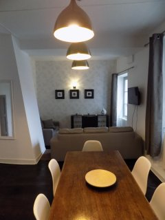 Designer dining in our stylish open plan living room/dining room