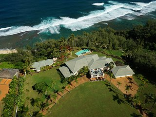 Luxury 5 BR Estate Over Beach W/ Huge Views, Pool, Hot Tub & Steam Room.