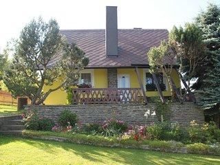 Outline vakantiehuis 'Vlastejov' In het Boheemse Woud. Een te ontdekken regio.