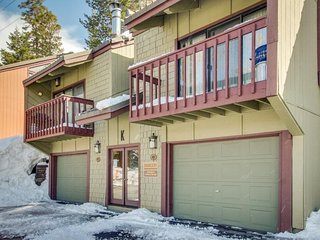 A serene ski-in/ski-out destination with shared pool, sauna, and hot tub!