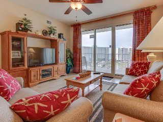 Gulf-view getaway features shared pools, sports, and beach access!
