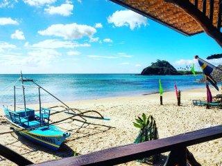 Calitang Beach Resort Room #1,  Twin Beach Nacpan
