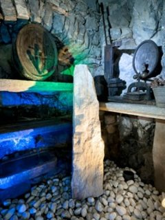 stunning grotto featuring LED lighting and original stone feature
