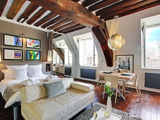 Luxury Large Studio rental, Ile Saint Louis views