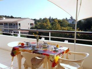 St Raphael bord de mer, appartement pour 4 personnes (piscine et parking)