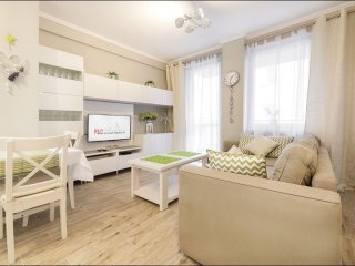 Wilenska apartment in Praga with WiFi, priveparkeerplaats & lift.