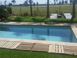 Luxieuse villa vue sur oisis golf marrakech