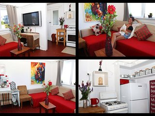 Sunny hip 2BDR beach apartment+parking at bondi beach