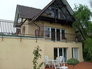 Haus in Ośno Lubuskie (Drossen) direkt am See