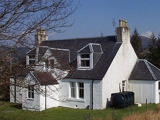 A traditional old Scottish Highlands house welcomes you