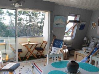 Superbe Duplex de standing exposé plein sud, salon de balcon, barbecue électrique, transats de plage