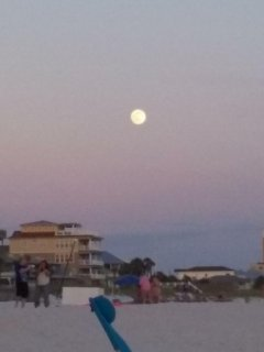 Full moon over PCB - Father's Day evening 2016.