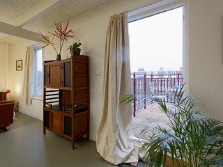 Vintage de Hallen roof terrace studio 50m2