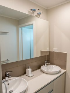 Modern renovated ensuite bathroom.