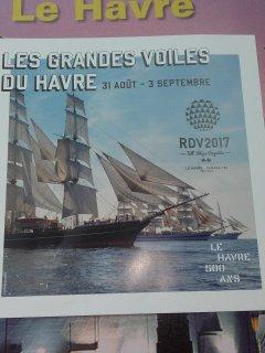 Les grandes voiles du 31 août au 3 septembre 2017. Le Havre.