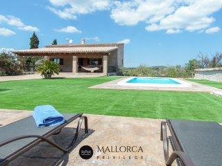Bonita Villa Sa Pedrera d'Es Turo con Piscina 6 + 2
