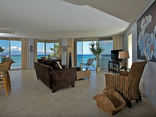 This ocean front property offers air conditioned comfort  Royal Kahana #511