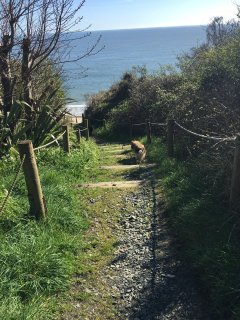 Steps to the beach, 2 min walk from the house.