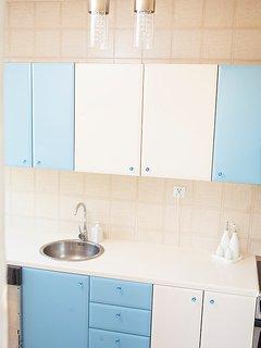 The designer kitchen.