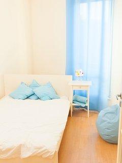 The quiet, calming bedroom.