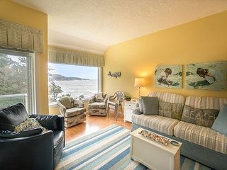 "Spectacular oceanfront views from Admiral 1 in ""Harbor at Depoe Bay"" complex."