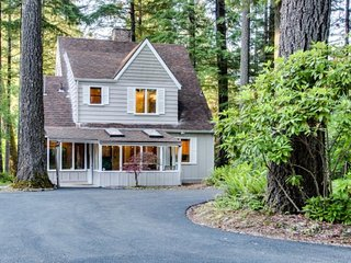 McKenzie Rapids river house is the perfect Oregon forest sanctuary.
