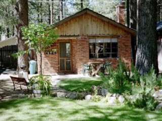 V38-Romantic, historic cabin just a few block to the Lake, fenced yard with