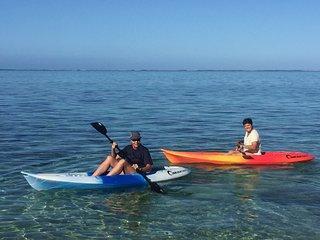 Free use of 4 Kayak's