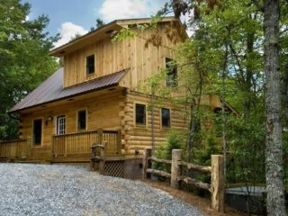 Stargazer at Deep Creek - Secluded Log Cabin with Hot Tub and Wi-Fi - Minutes