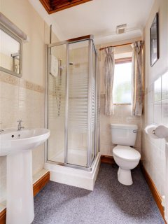 Shower room with shower cubicle wc and whb