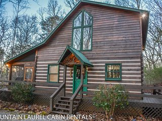 POPPYS MOUNTAIN HOUSE- 3 BR/ 2 BA CABIN WITH A MOUNTAIN VIEW! HOT TUB, WOOD