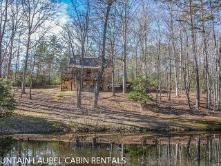 KINGDOM CABIN #1- 4BR/3BA- TOTALLY SECLUDED CABIN SLEEPS 8, PING PONG, POND