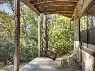 A BEAR PAUSE- 3BR/2BA- CABIN SLEEPS 11, SECLUDED, HOT TUB, SCREENED PORCH, POOL