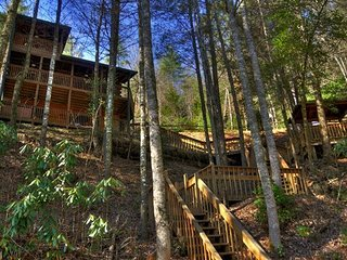 Above the River- 2BR/2BA- CABIN WITH TOCCOA RIVER ACCESS, SLEEPS 6, DECK ACCESS, Blue Ridge
