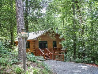 BOO CABIN- 2BR/1BA- CABIN WITH ACCESS TO COMMUNITY LAKE SLEEPS 4, HOT TUB, GAS