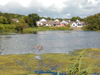 Waters Edge Retreat on the Mill Pond in Pembroke, Pembrokeshire. West Wales, UK