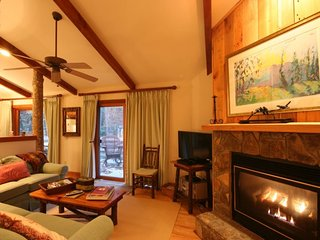 2BR/2BA with Gas Log Fireplace, King Master Suite, Jetted Tub, Rushing Creek in
